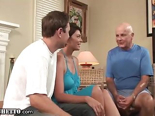 Brief haired mummy enjoys to be drilled highly firm, in front of her naughty spouse