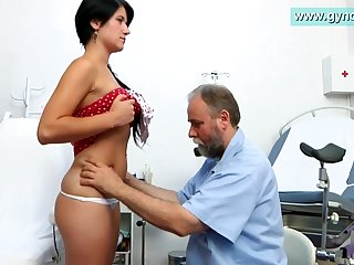 Lush Bearded Medic Engages Thin Damsel's Milk Cans Examination